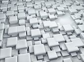 Abstract cubes background 3d