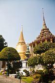 Wat Phra Kaeo, Temple of the Emerald Buddha and the home of the Thai King. Wat Phra Kaeo is one of B