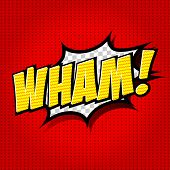 Wham! Comic Speech Bubble, Cartoon.