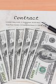 image of bill-of-rights  - dollar bills and english contract - JPG