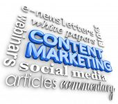 picture of newsletter  - Content Marketing 3d Word Collage Customer Outreach Communication - JPG