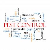 picture of mites  - Pest Control Word Cloud Concept with great terms such as bugs poison rates and more - JPG