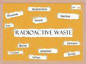 Radioactive Waste Corkboard Word Concept