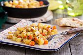 image of hash  - Apple and root vegetable hash with potato - JPG