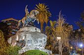 image of mendocino  - San Martin Square one of the four smaller plazas located 2 blocks off each corner of Independence Plaza in Mendoza Argentina - JPG