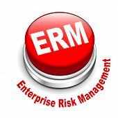 3D Illustration Of Erm Enterprise Risk Management Button