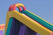 stock photo of inflatable slide  - Inflatable jumping castle  - JPG