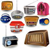 Iconos de la radio