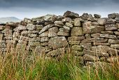Dry Stone Wall On Moorland