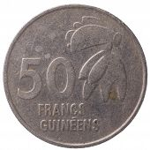 50 Guinean Franc Coin, 1994, Back