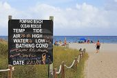 Pompano Beach Ocean Rescue Sign