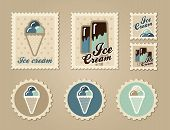 Summer stamps ice cream