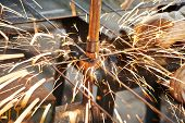 stock photo of welding  - Spot welding machine - JPG