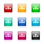 database web icons set