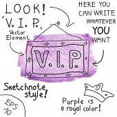 V.I.P. sign. Vector illustration