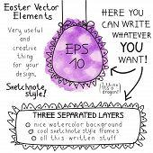 Easter vector elements