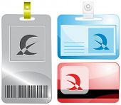 Abstract monetary sign. Id cards. Raster illustration.