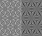 Set of Two Seamless Triangle Elements Pattern. Rasterized Version
