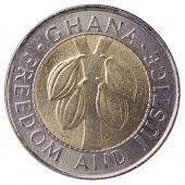 100 Ghana Cedis (second Cedi) Coin, 1999, Face