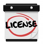 License Word Calendar Reminder Official Approval Certified
