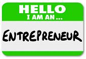 picture of self-employment  - Entrepreneur Name Tag Business Owner New Startup Company - JPG