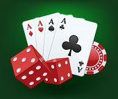 image of dice  - Casino vector splash - JPG