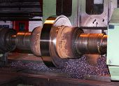 Renewing surface of mill roll.