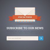 Newsletter Template - Subscription Form. Vector Illustration.