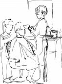 Young Man In The Barber Shop At The Master