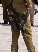Israel soldier in Jerusalem