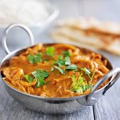 indian chicken tikka masala in balti dish