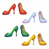 Vector set of shoes