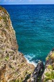 beautiful scenery with the ocean shore in Asturias, Spain
