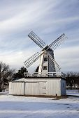 stock photo of kansas  - Kansas Friesen Mill in Hillsboro Kansas - JPG