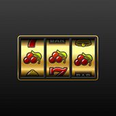 picture of slot-machine  - Vector illustration of Cherries  - JPG