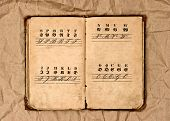 Open Old Vintage Alphabet Book
