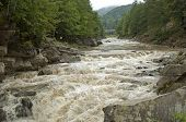 Powerful Waterfall Probiy Close Up In Yaremche, Ukraine