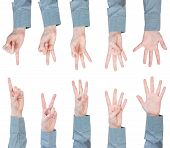 Set Of Scoring Female Hands - Gesture