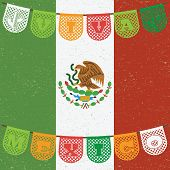 picture of mexican fiesta  - mexican decoration with viva mexico  - JPG