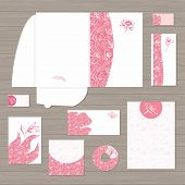 Pink Corporate Identity Template Vector