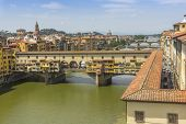 Bridges over river Arno, Florence, Italy
