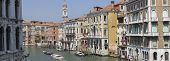 Grand canal view from Rialto bridge, Venice, Italy