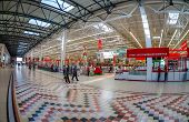Samara, Russia - August 30, 2014: Auchan Samara Store In Shopping Center Ambar. The One Of Largest S
