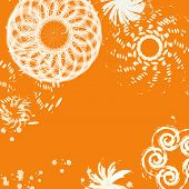 Magic White Twirl On A Orange Background