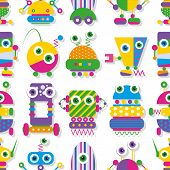 cute robots collection pattern