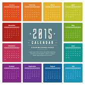 ?alendar 2015 year vector design template. European version.