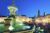 stock photo of samson  - night view of place in Ceske Budejovice - JPG