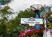 Yorkville Avenue Sign