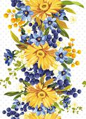 Elegance Vector background with yellow gerbera flowers