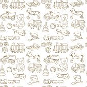 seamless pattern with baby toys